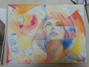 Etude de fond abstrait II. Forangeart F. Baldinotti Peintre De l'air