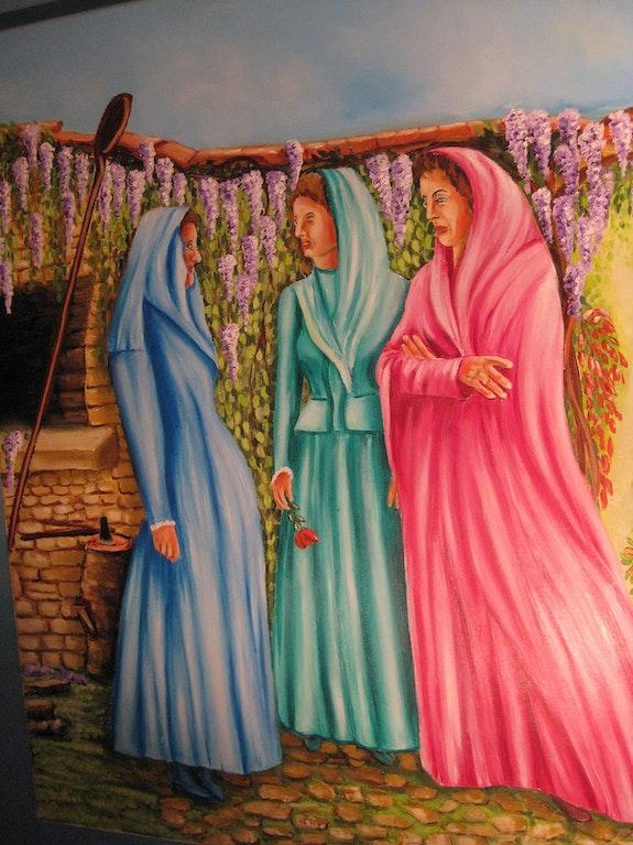 Le carnaval des bavardes. Horts Christian Ch Artiste Peintre