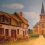 Le village tranquile. Ch Artiste Peintre