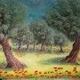Les oliviers sous le soleil. Ch Artiste Peintre
