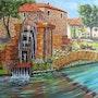 Le vieux moulin a eau. Ch Artiste Peintre