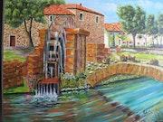 Le vieux moulin a eau.