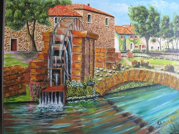 Le vieux moulin a eau. Horts Christian Ch Artiste Peintre