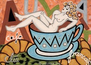 Café Au Lait - original painting - Jacqueline_Ditt.