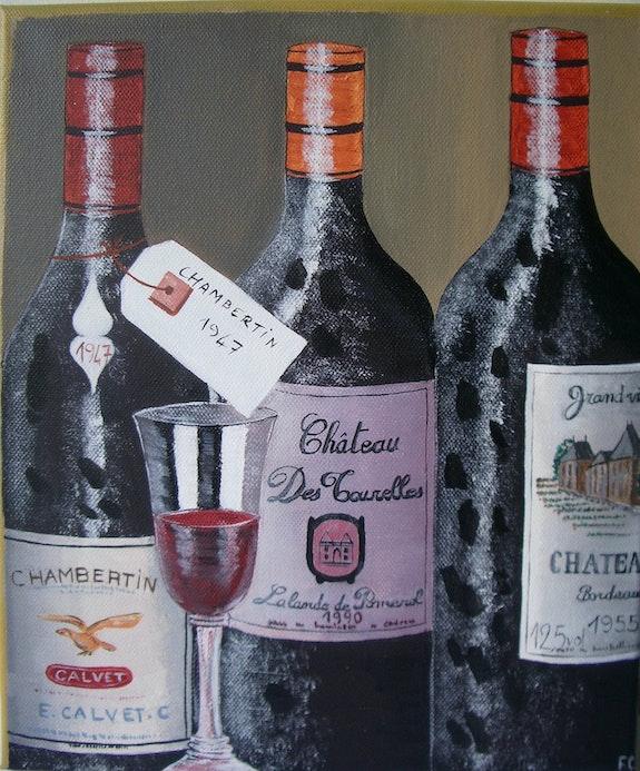 Coffret vins.  Castagné