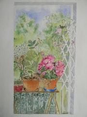 Vue sur un coin de mon balcon.. Françoise-Elisabeth Lallemand