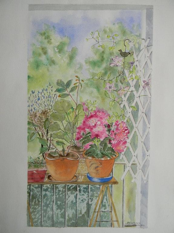 Vue sur un coin de mon balcon.. Françoise-Elisabeth Lallemand Françoise-Elisabeth Lallemand