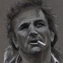 Peter Falk portrait au fusain 200613. Philippe Flohic