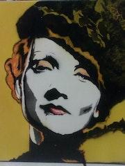 Pintura de mujer de época ! !. Marilyn Guevara