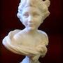 Statue signée A. Leonard. Marc Menzoyan Antiquités