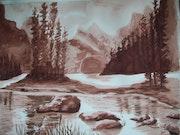 Lac de montagne.