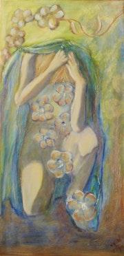 Naissance de Vénus avec fleurs.