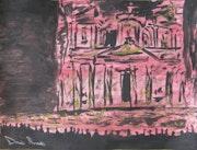 Prier dans la nuit devant Petra, Beten in der Nacht vor Petra. Davide Manzotti