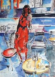 La femme en rouge.