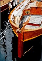 Les barques latines à Bonifacio.