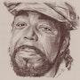 Barry White, portrait à la mine sépia (290713). Philippe Flohic