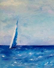 Voile Bleue par matin clair et clapotis - Voile Bleue by morning light and lappi.