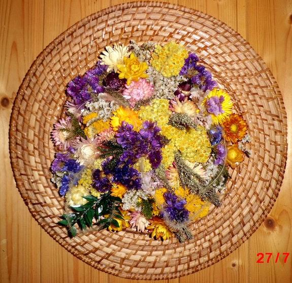 Sommersonne - Blumengarten Vintage. Morgentau Morgentau