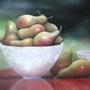 Coupe de poires ou délices d'automne. Jacqueline Hautbout