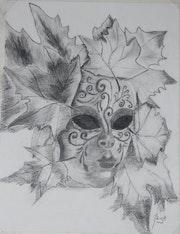 Les masques de Venise; le noir et blanc. Maya89