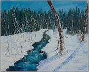 Un ruisseau en hiver.