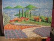 Vue du lac de sainte croix dans l'arriere pays toulonnais. Artiste Amateur Indépendant