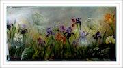 Champs d'iris, ombellifères, marguerites.