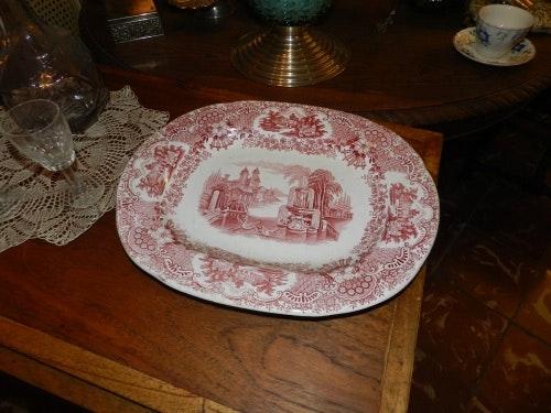 Pickman earthenware tray. Pickam Sevilla Antiguedadesoratam