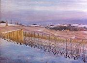 Neige sur les vignes de Féchy.