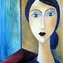 Jeune fille (copie Modigliani). Mimi