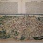 Doppelseitige Stadtansicht Florenz, Schedel'sche Weltchronik 1493, koloriert. Thomas Kern