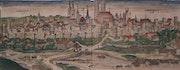 Kolorierter Holzschnitt München, Schedel'sche Weltchronik 1493. Thomas Kern