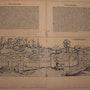 Doppelseitige Stadtansicht Konstanz, Schedel'sche Weltchronik 1493, s/w. Thomas Kern