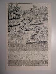 Phantasieansicht Bayern, Schedel'sche Weltchronik 1493, s/w. Thomas Kern