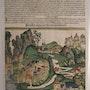 Phantasieansicht Preussen, Schedel'sche Weltchronik 1493, koloriert. Thomas Kern