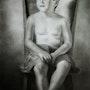 Boy on a hardwood chair. Terry Morris