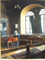 Synagogue à Jérusalem en 1950.