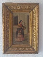 Venta de cuadro «Aldeana». Jesús Velasco