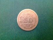 50P coin Silver / 1919. Antiguedadesoratam