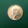 Devise de la moitié de dollars Plata, États-Unis 1964, Kennedy. Antiguedadesoratam