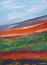 Ciel, dunes et collines.