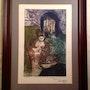 Table Gravure / Lady avec des poissons / Raul Capitani. Antiguedadesoratam