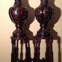 Great Pair of Antique Bronze Vases. Antiguedadesoratam