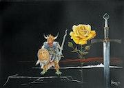 A. Le guerrier a la rose. Michaux