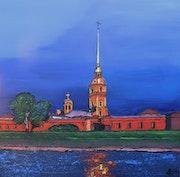 La forteresse Pierre et Paul à St Pétersbourg.