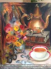 Un agréablement moment : l'heure du thé. Henriette Capretti