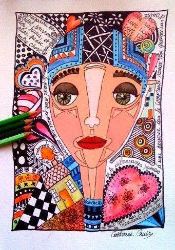 Zeichnen Mischtechnik auf Papier. Catherine Cruse Catherine M. Cruse