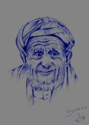 Portrait vieil homme bérbere. Simo Sassa
