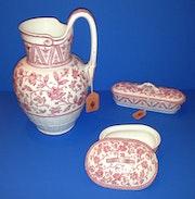 3 Teile Porzellan Waschservice aus dem Besitz des Markgrafen von Baden Sotheby's. Thomas Kern