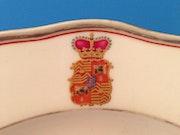Meissen 2 Porzellanteller, Wappen fürst von hanau graf von schaumburg, 19 Jhdt.. Thomas Kern